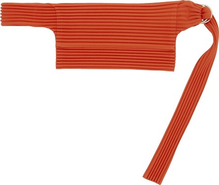 Pleats Please By Issey Miyake SSENSE Exclusive Red Pleated Waist Bag