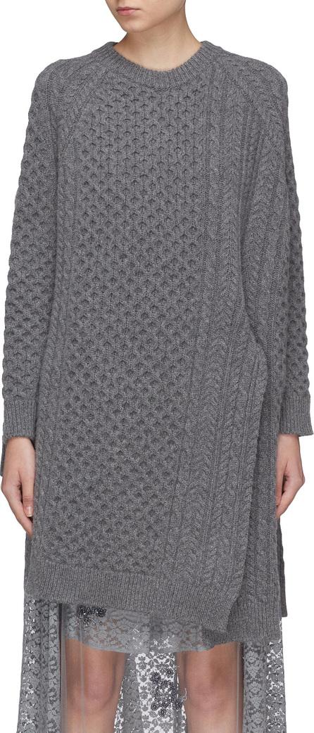 Stella McCartney Oversized asymmetric Aran knit cape sweater