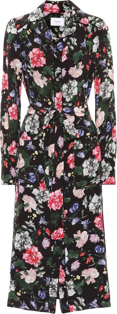 Erdem Quenna floral silk shirt dress