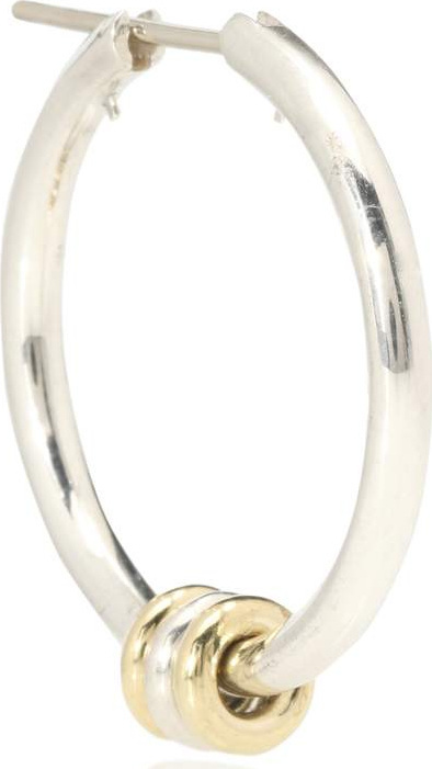 Spinelli Kilcollin Argo SP sterling silver and 18kt gold hoop earring