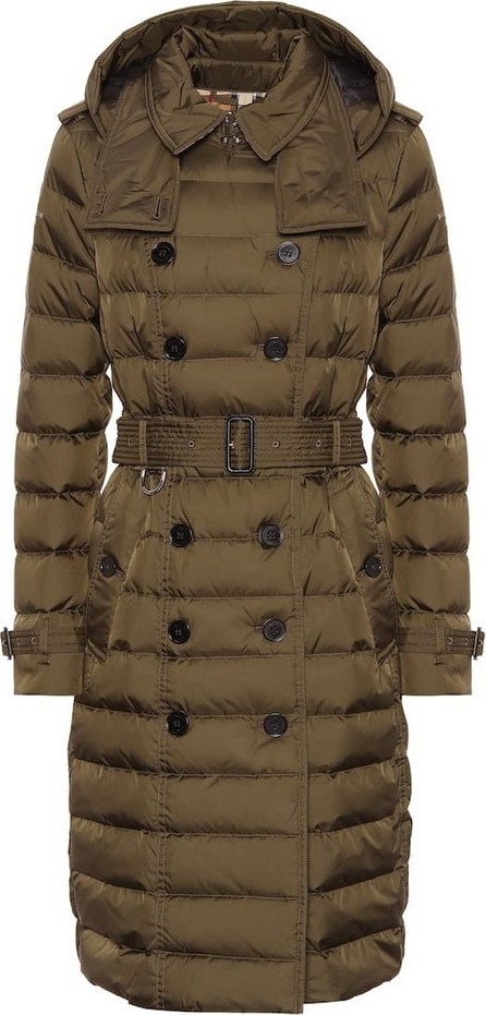 Burberry London England Double-breasted down puffer coat