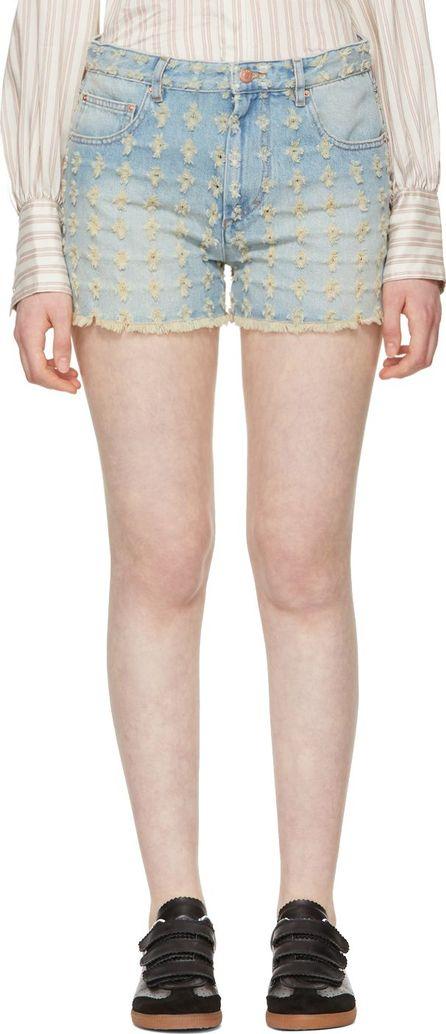 Isabel Marant Etoile Blue Celsa Denim Shorts