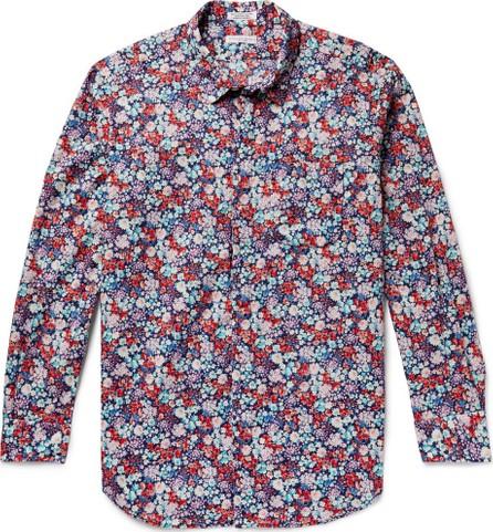 Engineered Garments Floral-Print Cotton-Poplin Shirt