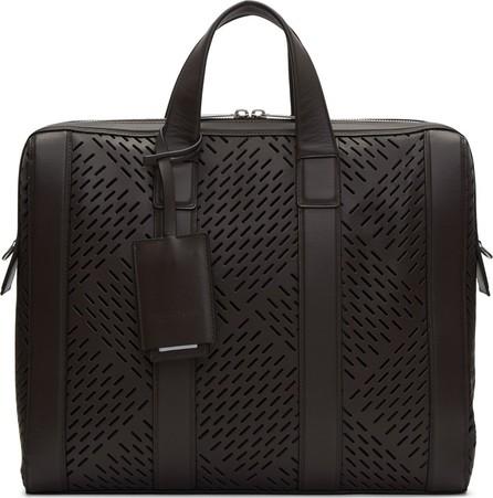 Bottega Veneta Brown Perforated Briefcase
