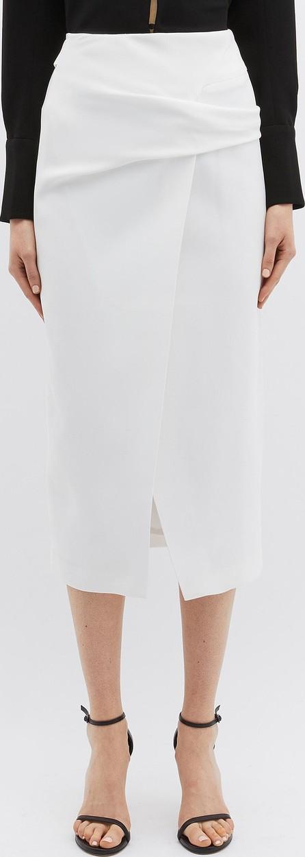 Bianca Spender 'Allegra' belted crepe wrap skirt