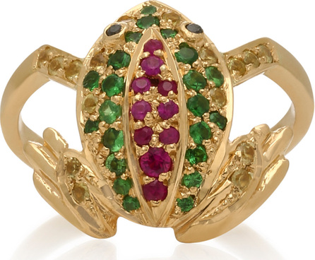 Donna Hourani Frog 18K Gold, Diamond and Sapphire Ring