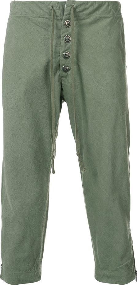 Greg Lauren Elasticated waist trousers