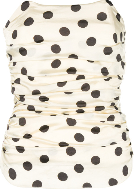 Hache Ruched polka dot corset top