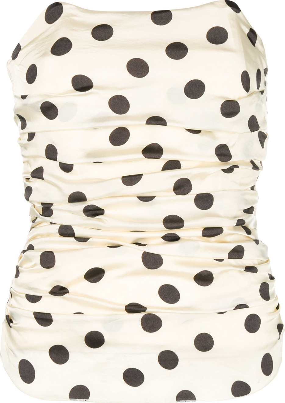 Hache - Ruched polka dot corset top
