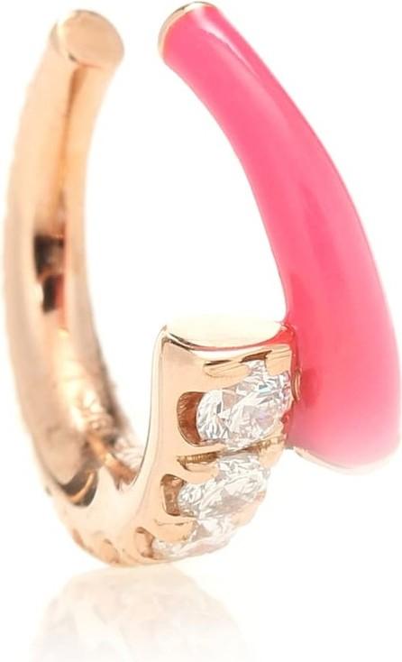 Melissa Kaye Lola 18kt gold ear cuff with diamonds
