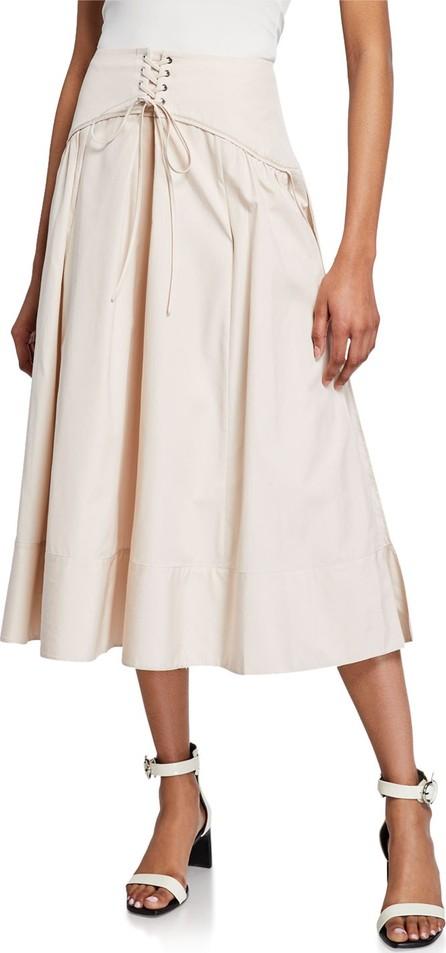 3.1 Phillip Lim Long Poplin Corset Skirt