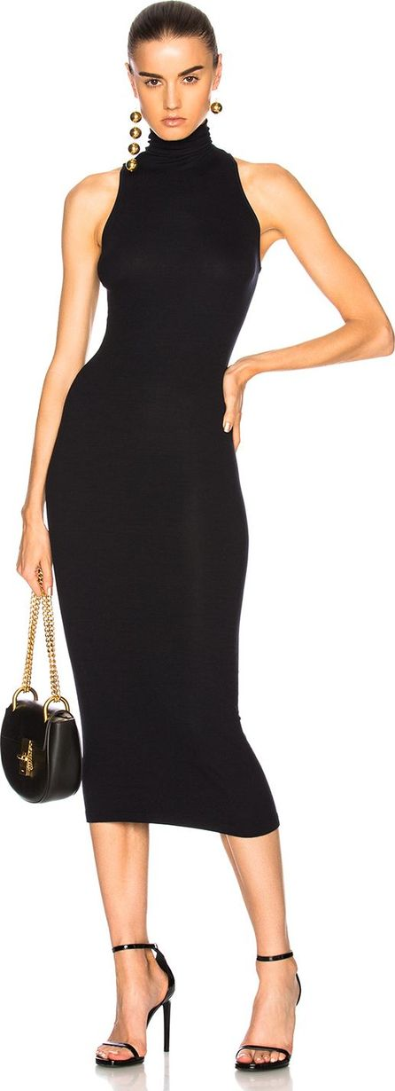 ENZA COSTA Turtleneck Sleeveless Dress