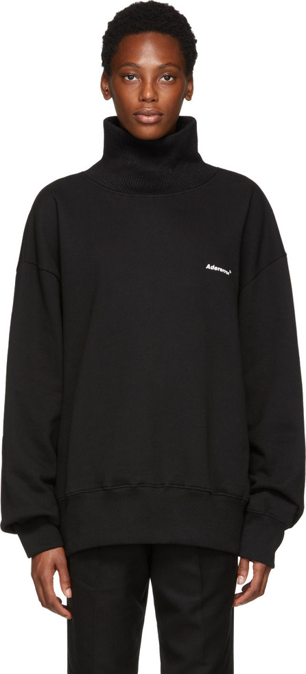 ADER error Black Turtleneck Sweatshirt