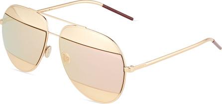 Dior DiorSplit Two-Tone Metallic Aviator Sunglasses