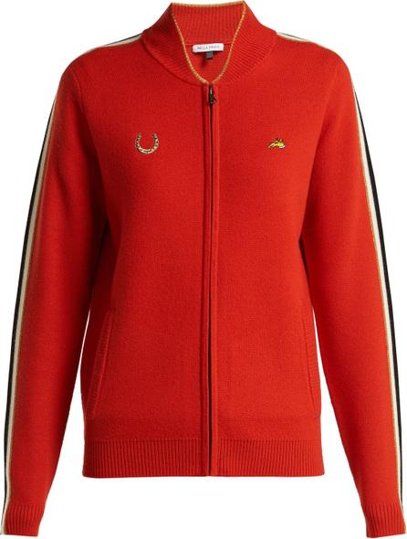 Bella Freud Race Track zip-up wool track jacket