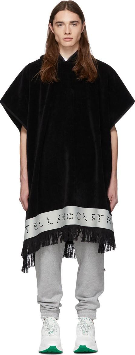 Stella McCartney Black Terry Cloth Poncho