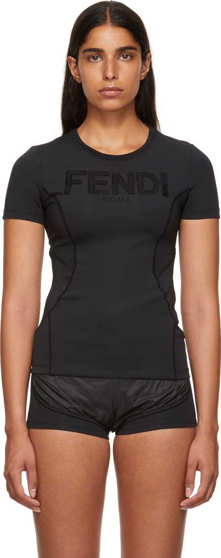 Fendi Black Neoprene T-Shirt