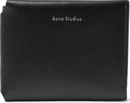 Acne Studios Logo-Print Leather Trifold Wallet
