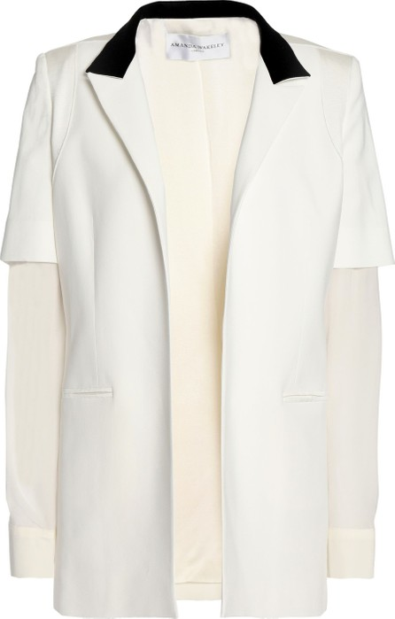 Amanda Wakeley Paneled two-tone woven blazer