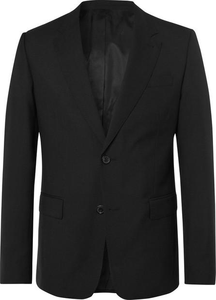 AMI Black Slim-Fit Virgin Wool Suit Jacket