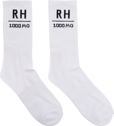 RHUDE SSENSE Exclusive White Soho House Edition 'RH' Socks