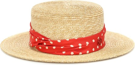 Maison Michel Kiki polka-dot straw hat