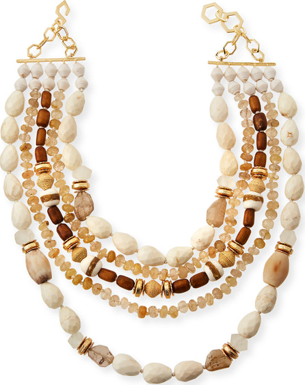 Akola Five-Strand Beaded Statement Necklace
