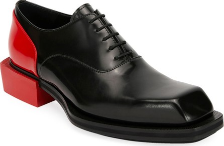 Alexander McQueen Men's Colorblock Leather Lace-Up Shoes