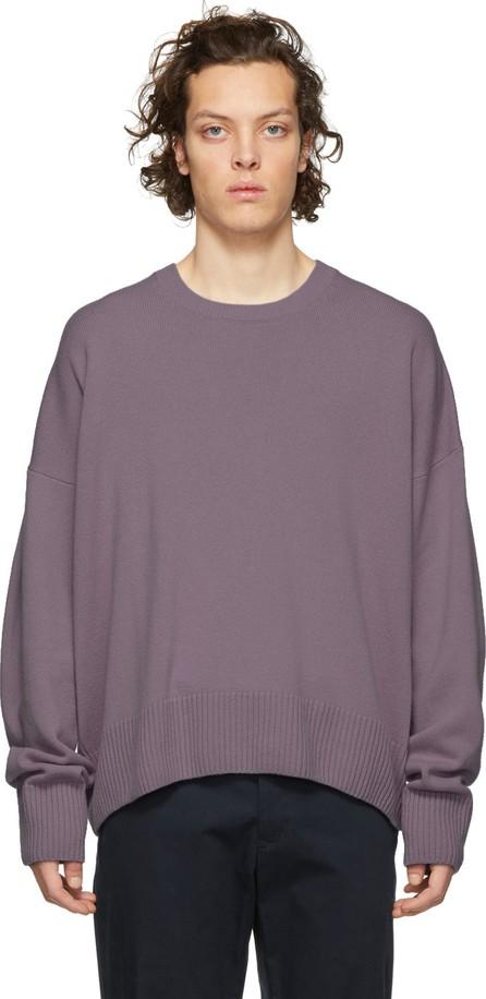 AMI Purple Cashmere Oversized Sweater
