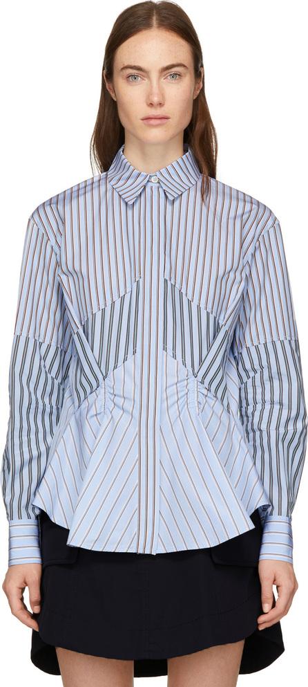 Carven Blue Mix Stripe Shirt