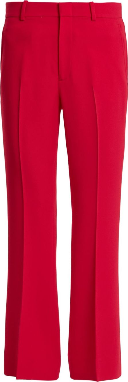 Gucci High-rise flared cropped stretch-cady trousers