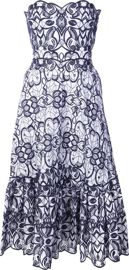 Jonathan Simkhai Embroidered strapless flared dress