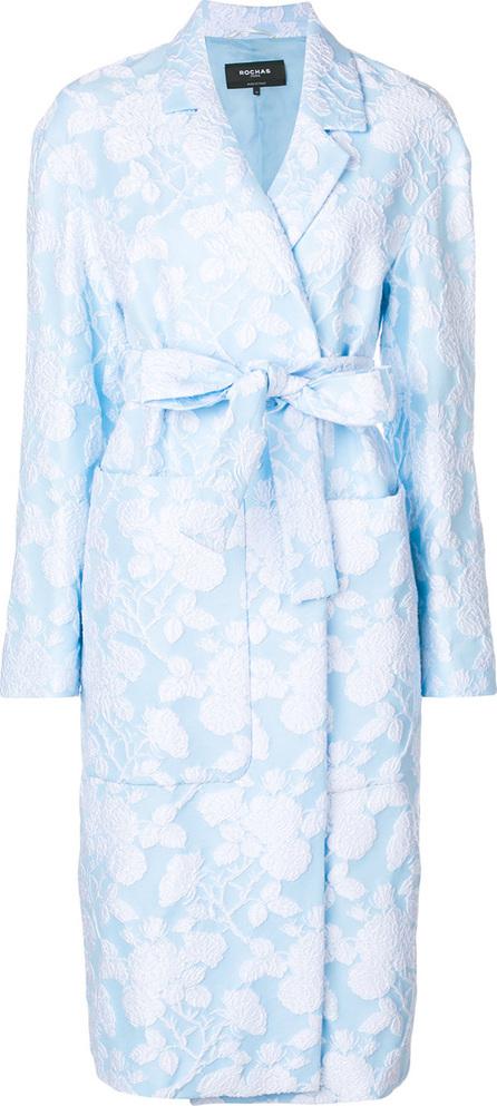 ROCHAS Floral jacquard coat