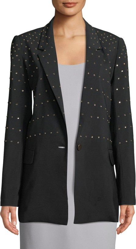 Badgley Mischka Studded Single-Button Blazer