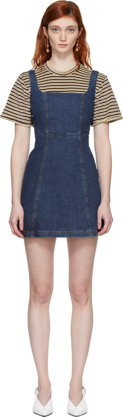 Alexachung Blue Denim Mini Dress