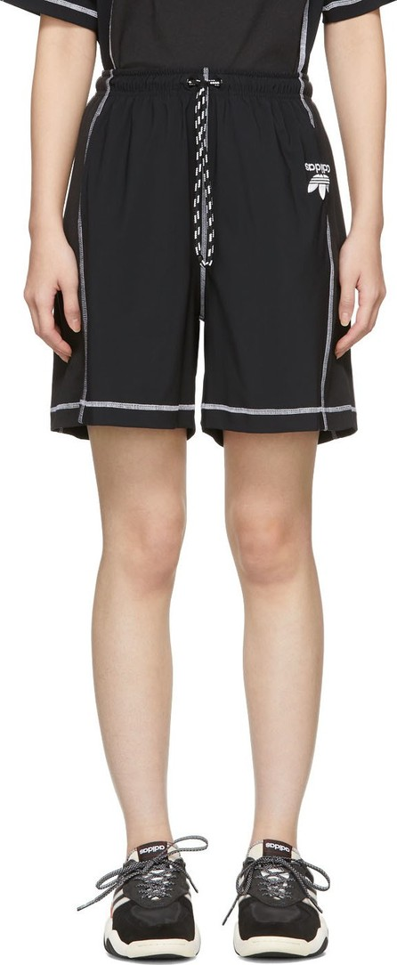 Adidas Originals by Alexander Wang Black Logo Shorts