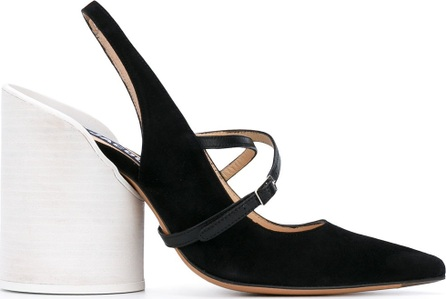 Jacquemus chunky heel pointed pumps