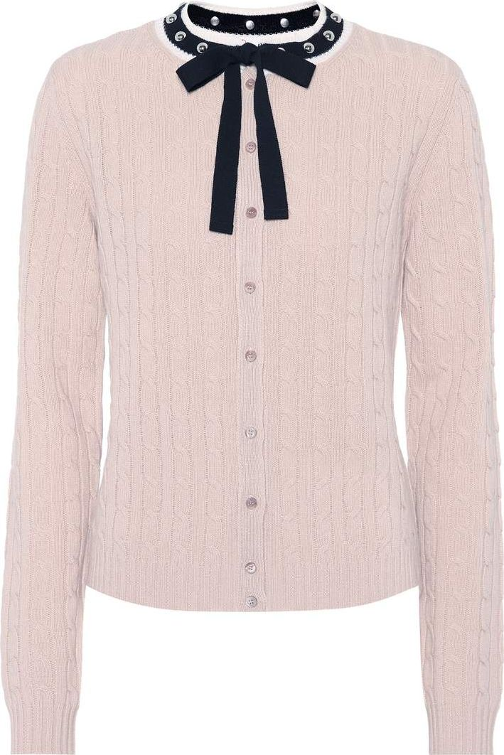 RED Valentino - Embellished wool cardigan