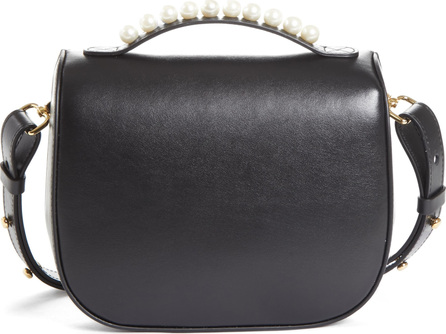 Simone Rocha Leather Box Bag with Imitation Pearl Trim