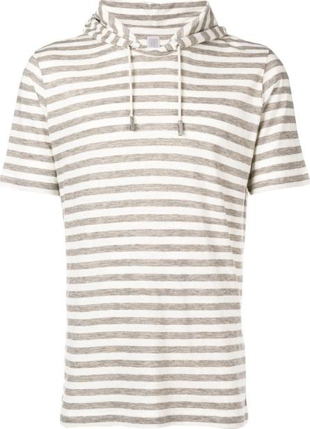Eleventy Striped hooded T-shirt