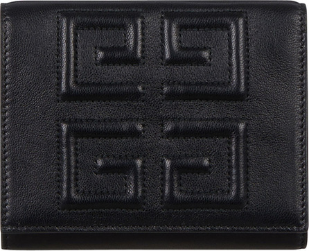 Givenchy Emblem Leather 3-Fold Wallet