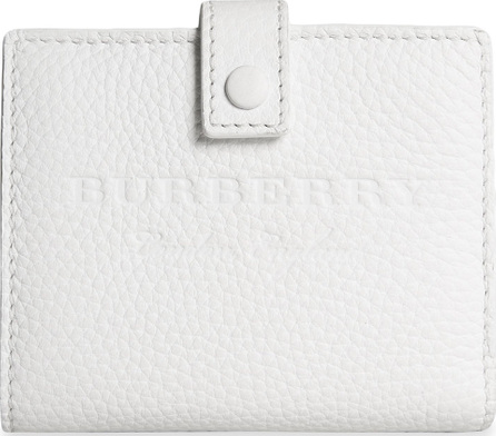 Burberry London England Embossed leather folding wallet