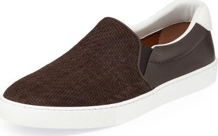 Ermenegildo Zegna Men's Leonardo Woven Calf Leather Sneakers