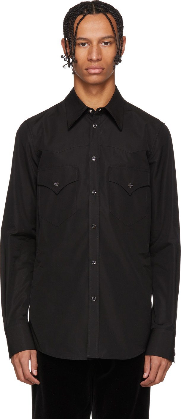 24614a2f4e2 DSQUARED2 Black Chic Western Shirt - Mkt