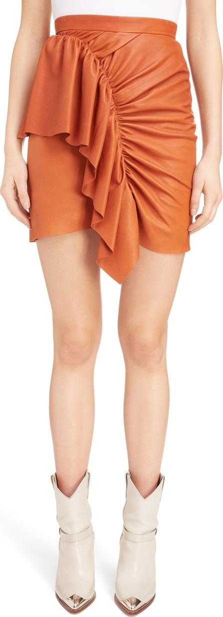 Isabel Marant Lea Draped Leather Skirt