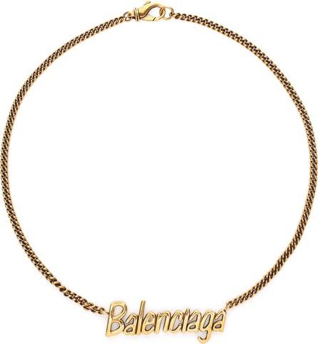 Balenciaga 'Typo' logo pendant necklace