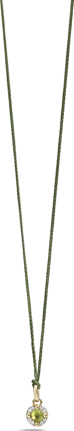 Pomellato M'ama Non M'ama Pendant Necklace in Rose Gold with Peridot & Diamonds