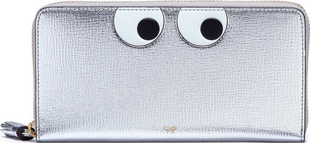 Anya Hindmarch 'Eyes' embossed large metallic leather wallet