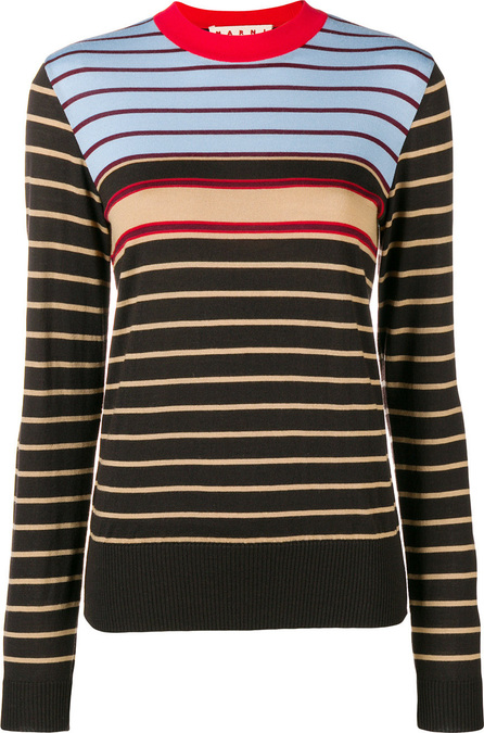 Marni Striped mock neck sweater