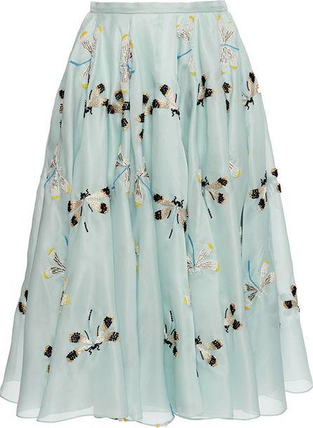 ROCHAS Embroidered Organza Skirt